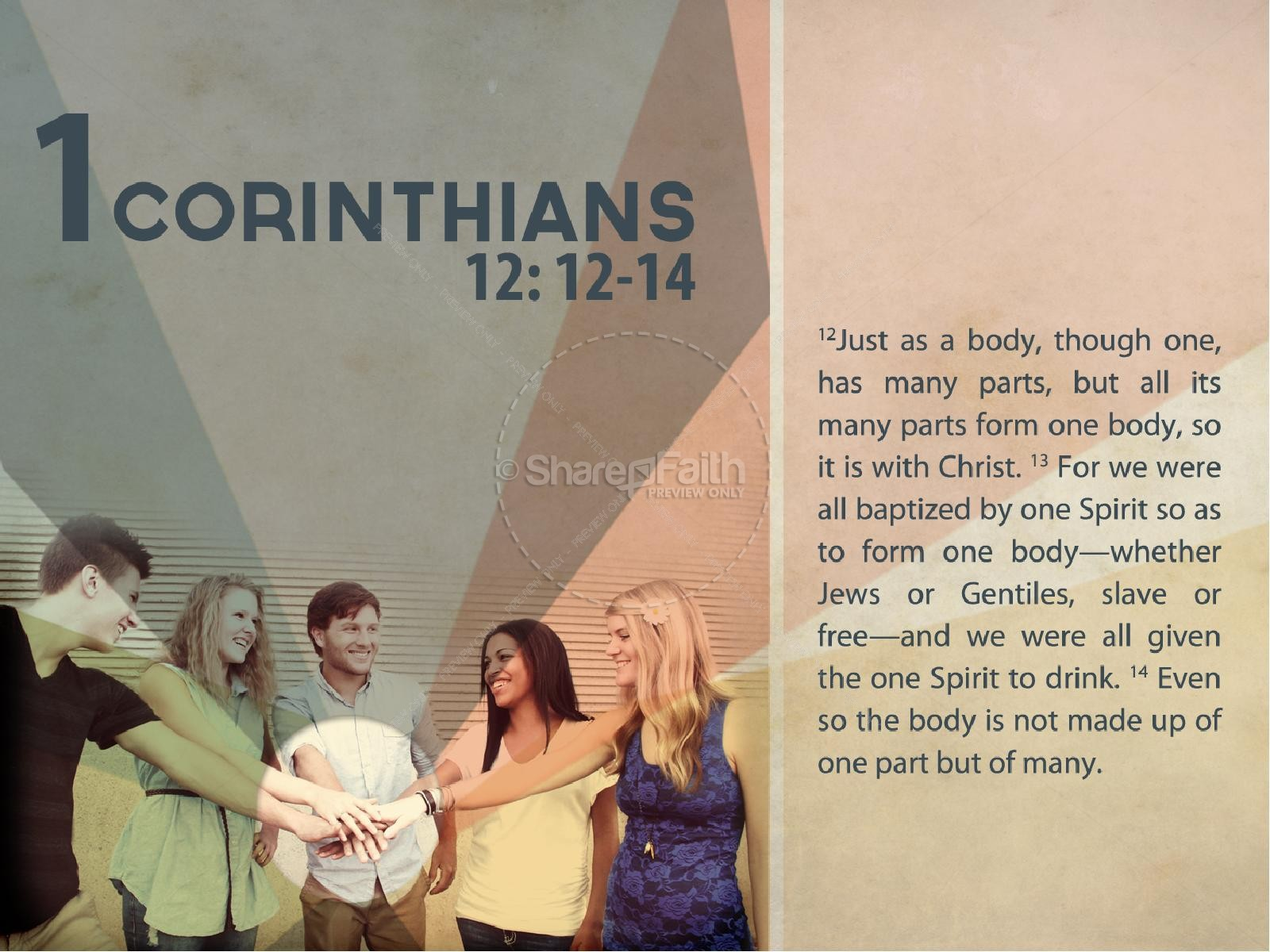 United in Christ PowerPoint Template | slide 2
