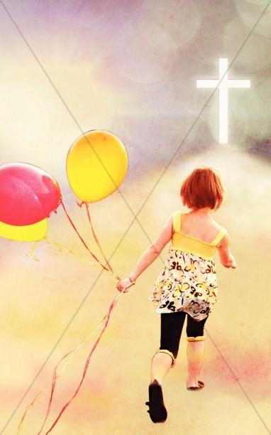 Playing Child Church Bulletin Cover