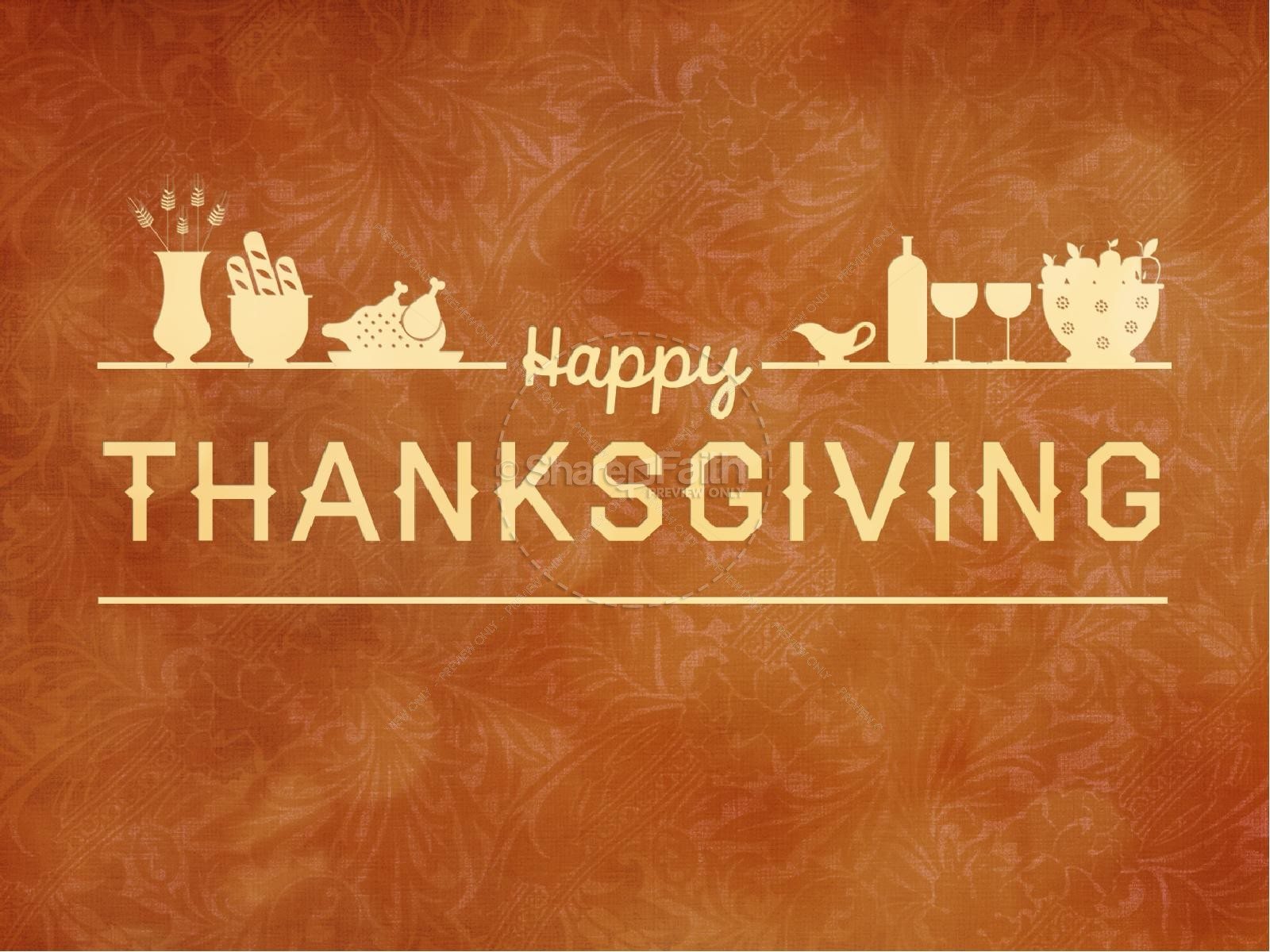 Happy Thanksgiving Event PowerPoint Template