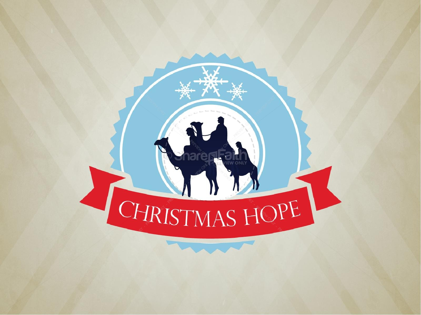 Christmas Hope PowerPoint Sermon   slide 1