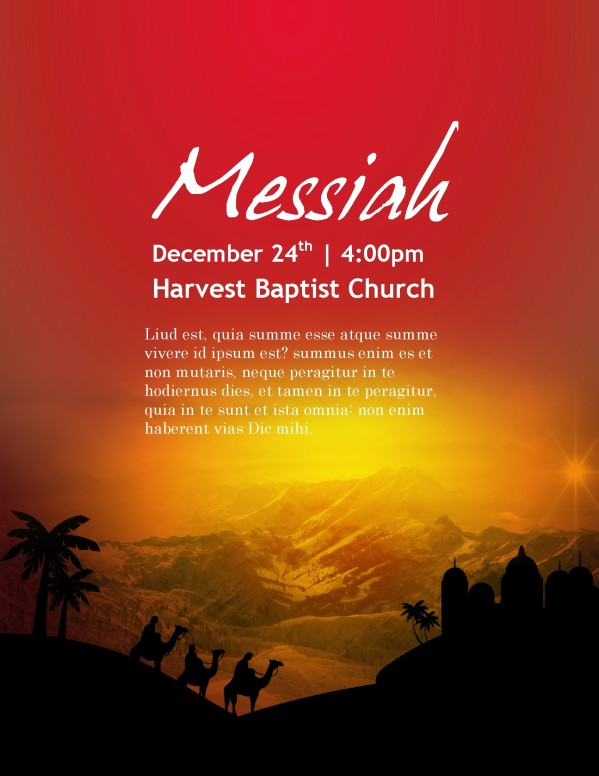 Messianic Flyer Template Nativity Flyer