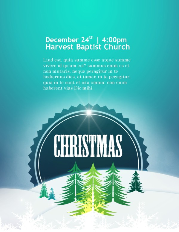 Christmas Flyer Template for Church