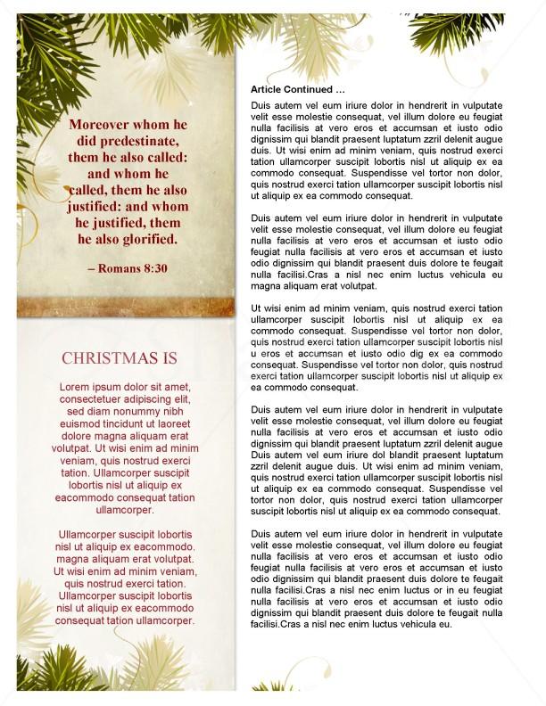 away in a manger church newsletter template template
