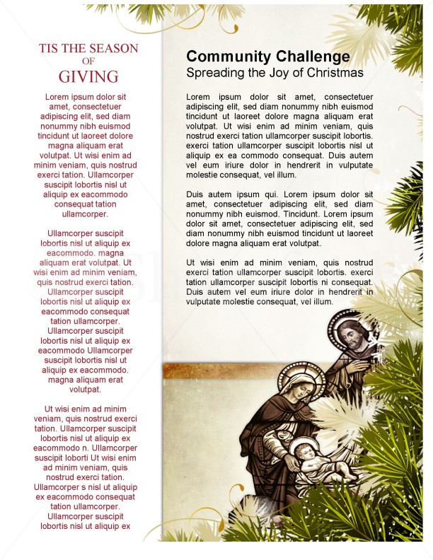 Away in a Manger Church Newsletter Template Template | Newsletter ...