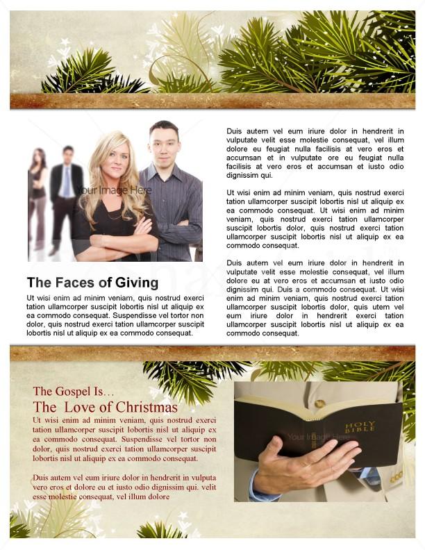 Away in a Manger Church Newsletter Template