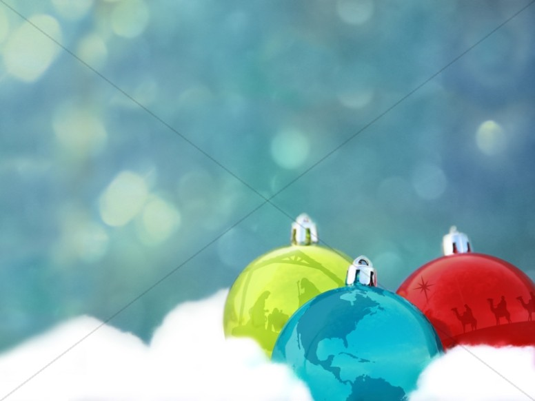Christmas Ornaments PowerPoint Background