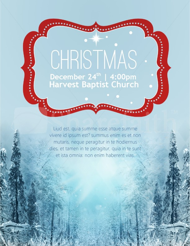 Winter Scene Christmas Flyer Template  Flyer Templates