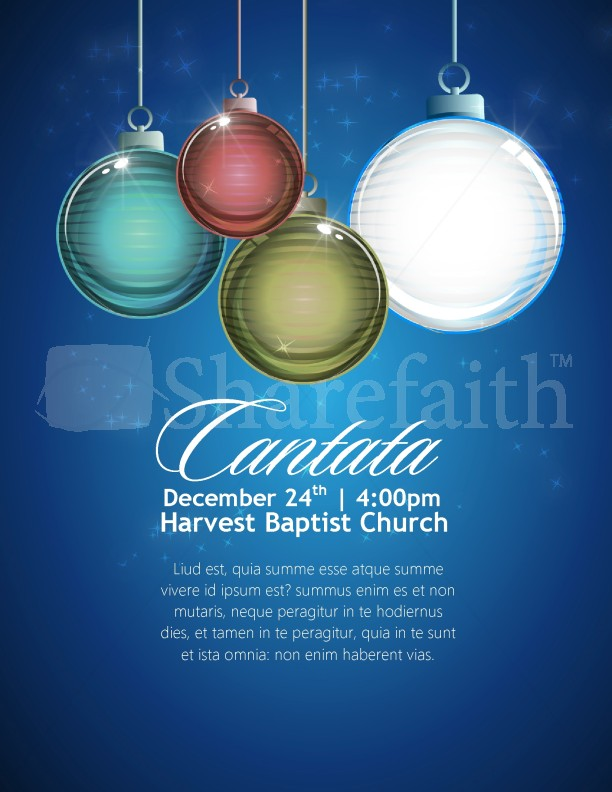 Christmas Cantata Church Flyer Template