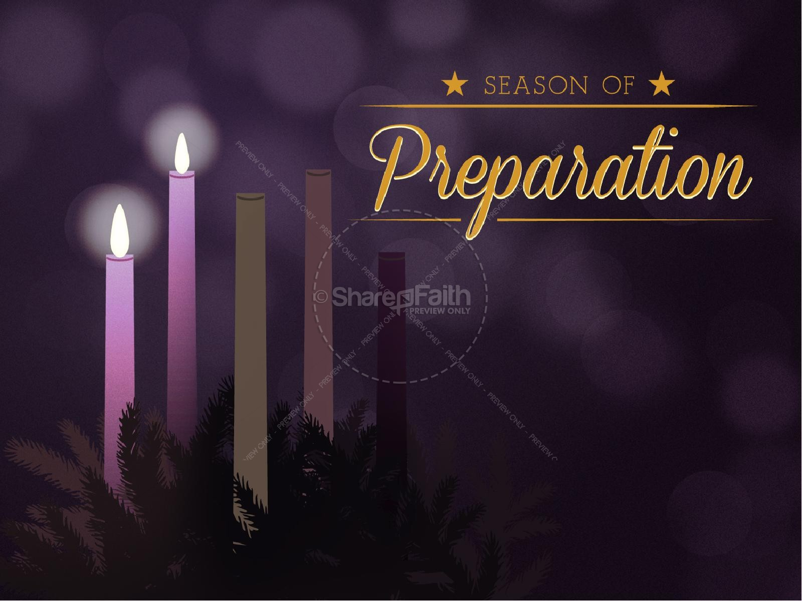 Celebrating Advent Church PowerPoint Template