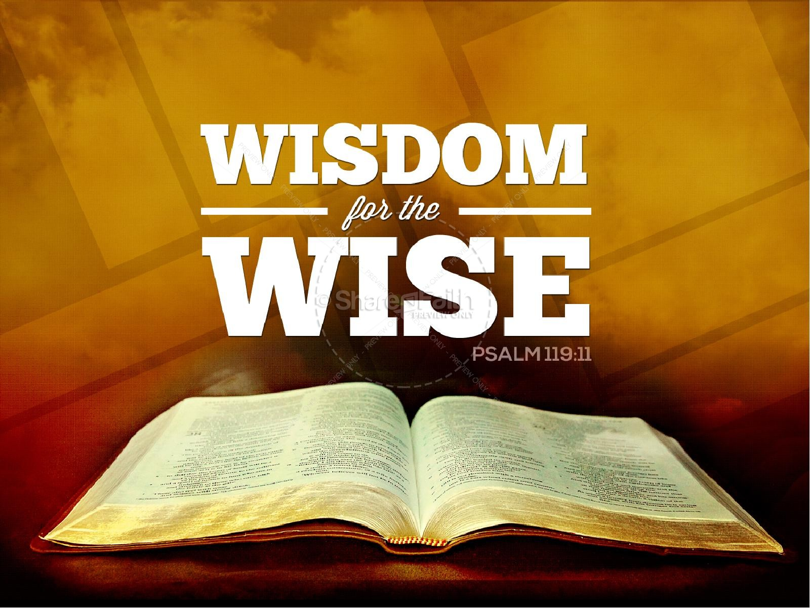 Wisdom for the Wise Sermon PowerPoint