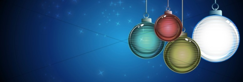 Christmas Ornaments Web Banner