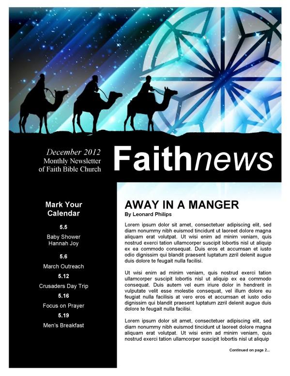 Christmas Messiah Newsletter Template