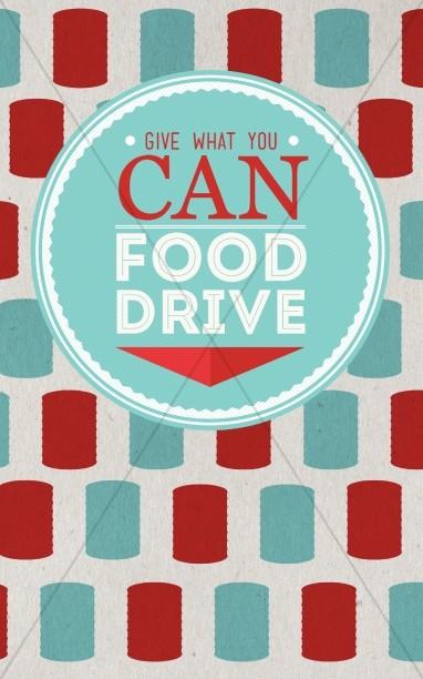 Food Drive Church Bulletin