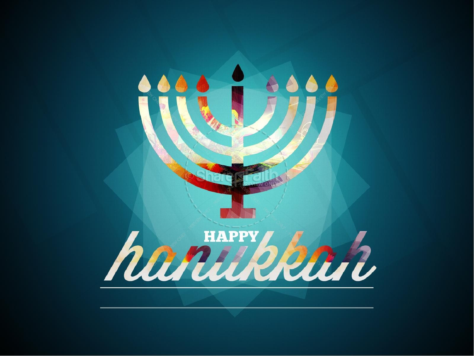 Happy Hanukkah PowerPoint | slide 2