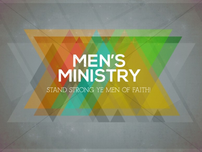 Men's Ministry Church Service Slide for Church