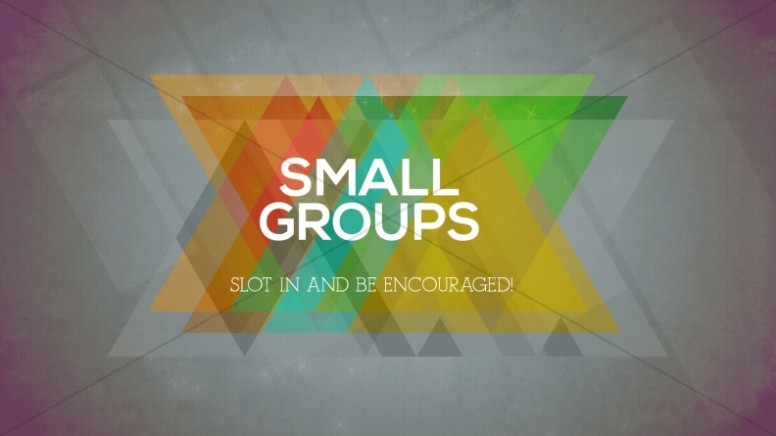Small Groups Church Event Slide