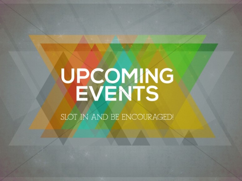 Upcoming Events Church Service Slide