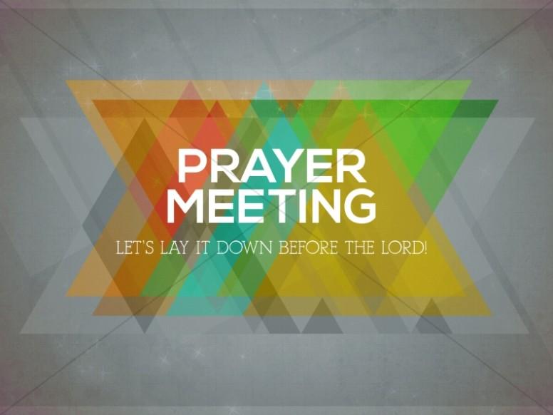 Prayer Meeting Church Service Still