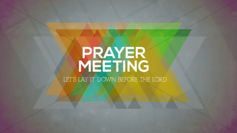 Prayer Meeting Church Event Slide