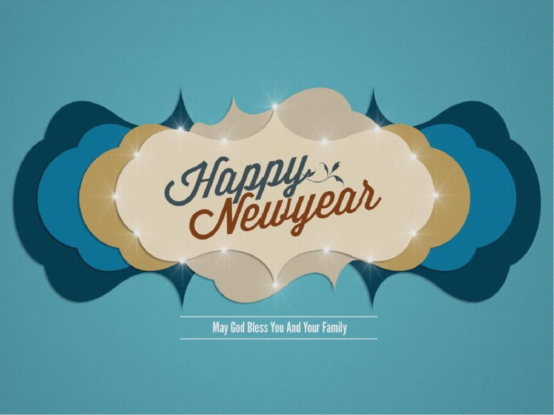 Contemporary Happy Newyear PowerPoint Template