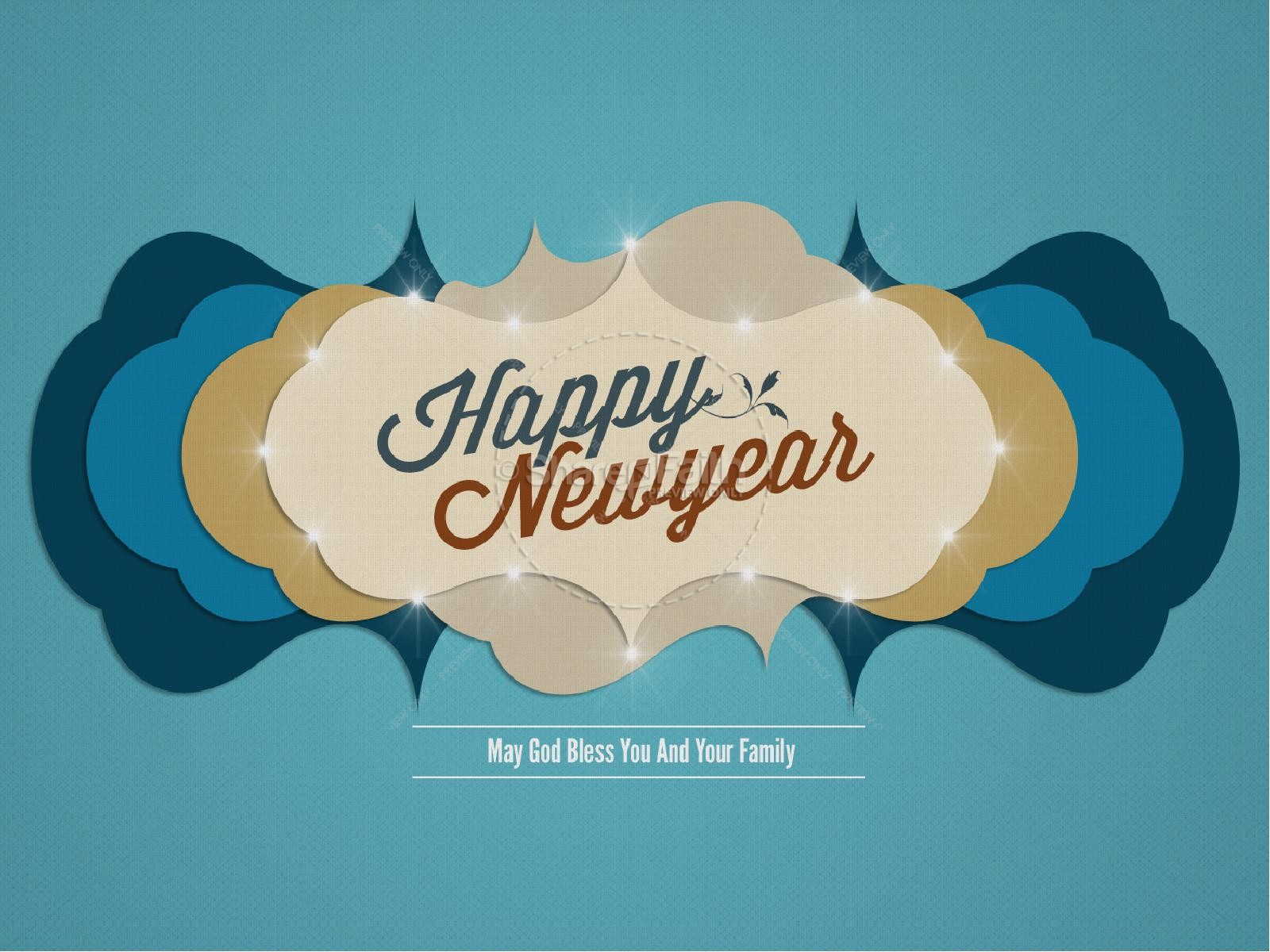 Contemporary Happy Newyear PowerPoint Template | slide 1