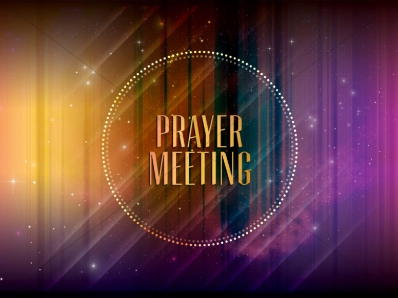 Prayer Meeting Announcement Slide