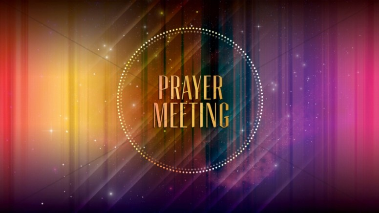 Prayer Meeting Slide Church Event