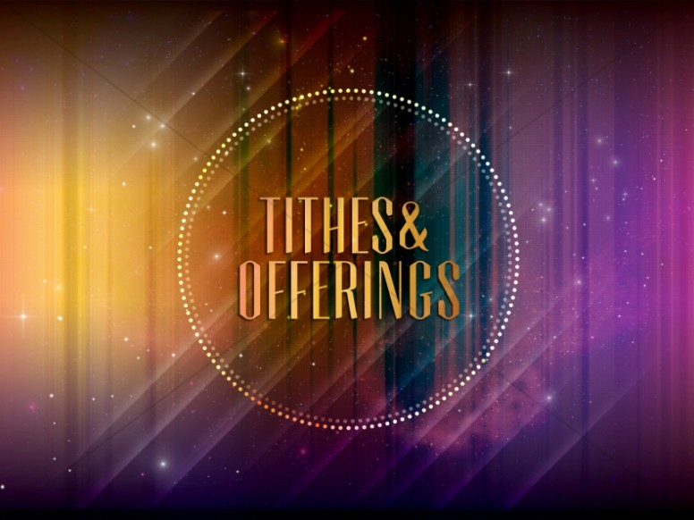 Tithes and Offering Church Event Slides
