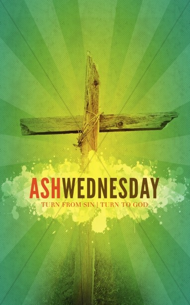 Ash Wednesday Church Bulletin Template