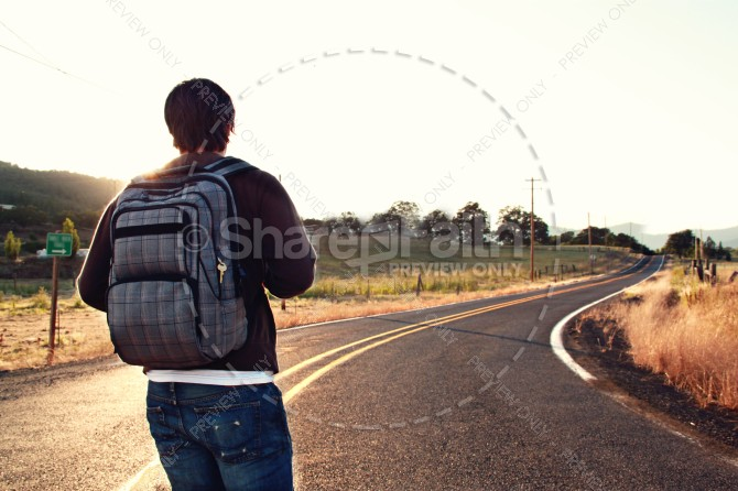 Traveler Christian Stock Images
