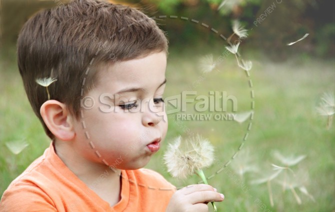 Faith of a Child Christian Stock Images