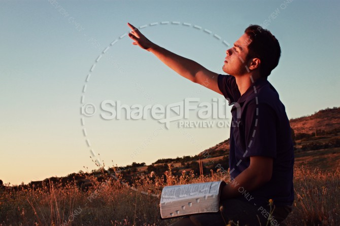 Seeking God Christian Stock Photo