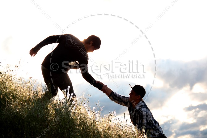 Helping Hand Christian Stock Images