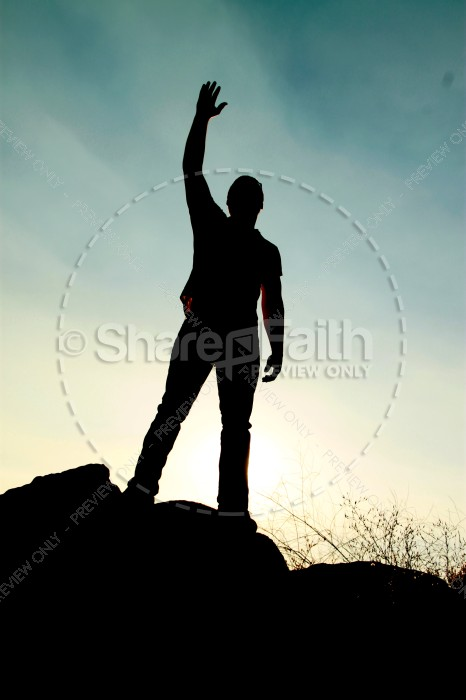 Victory in Jesus Religious Stock Images