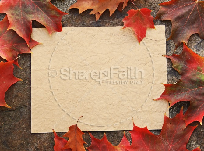 Autumn Card Christian Stock Photos