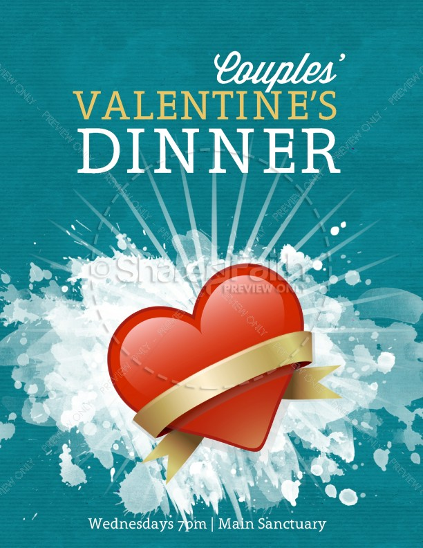 Valentine's Dinner Flyer Template