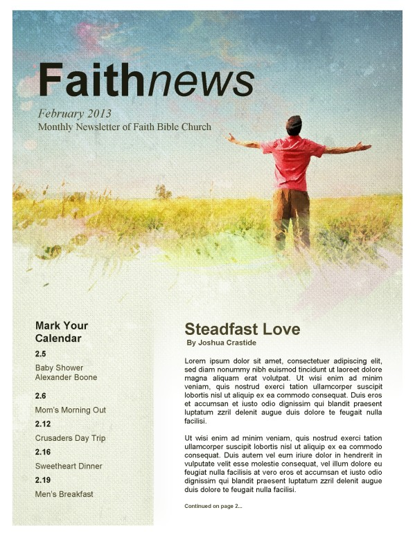 Lifted Hands Church Newsletter