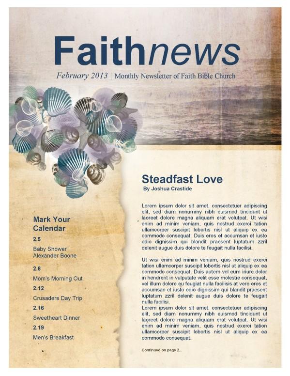 Ocean Hearts Church Newsletter