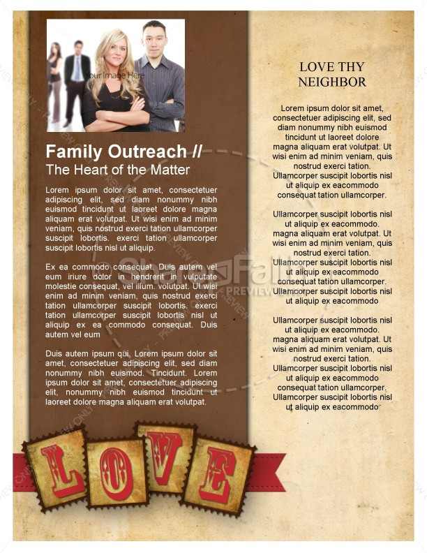 Love Letters Church Newsletter