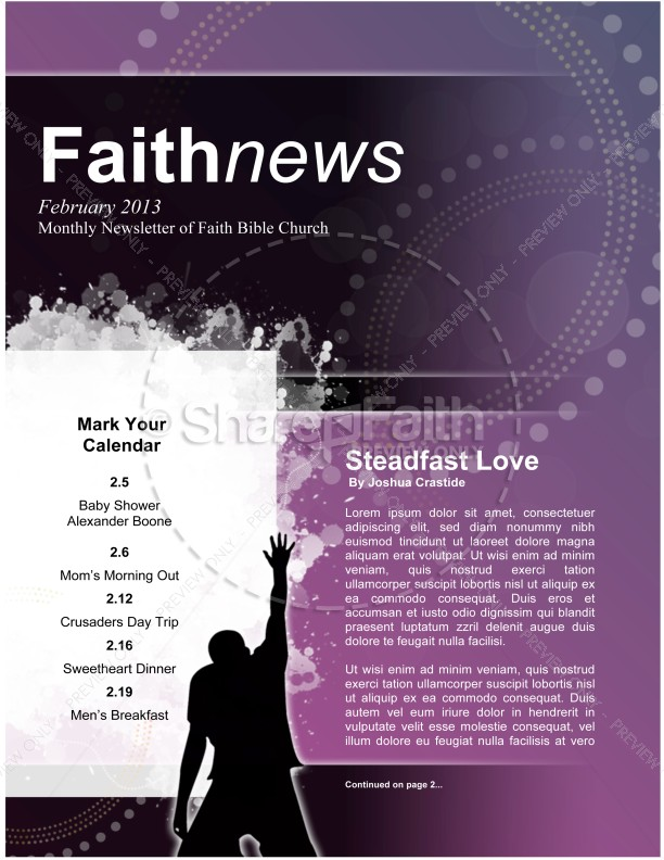 Church Lent Newsletter | page 1