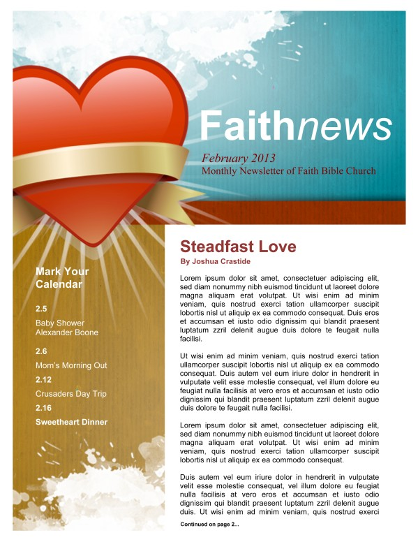 Steadfast Love Church Newsletter