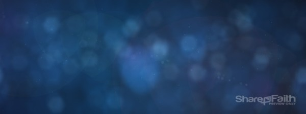 Soft Focus Blue Triple Wide Video Format