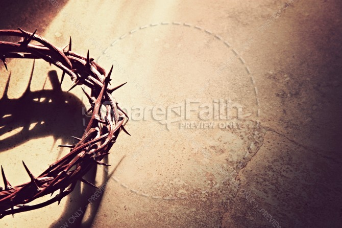 Crown of Thorns Religious Stock Photo
