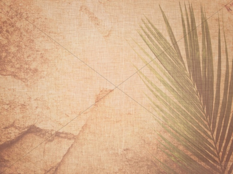 Palm Sunday Worship Background Template