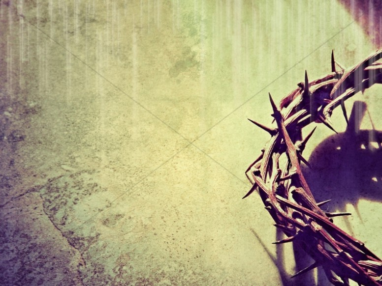 Thorn Crowns Easter Worship Background