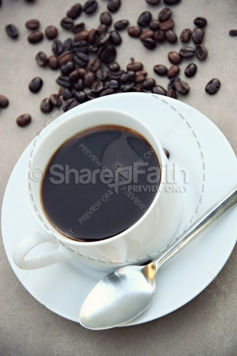 Coffee Religious Stock Photo