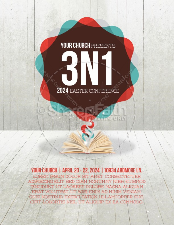Church Conference Flyer Design Template | Flyer Templates