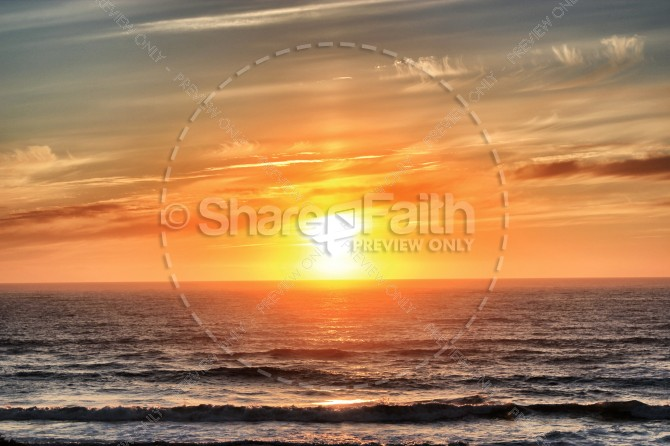 Ocean Sunset Christian Stock Photo