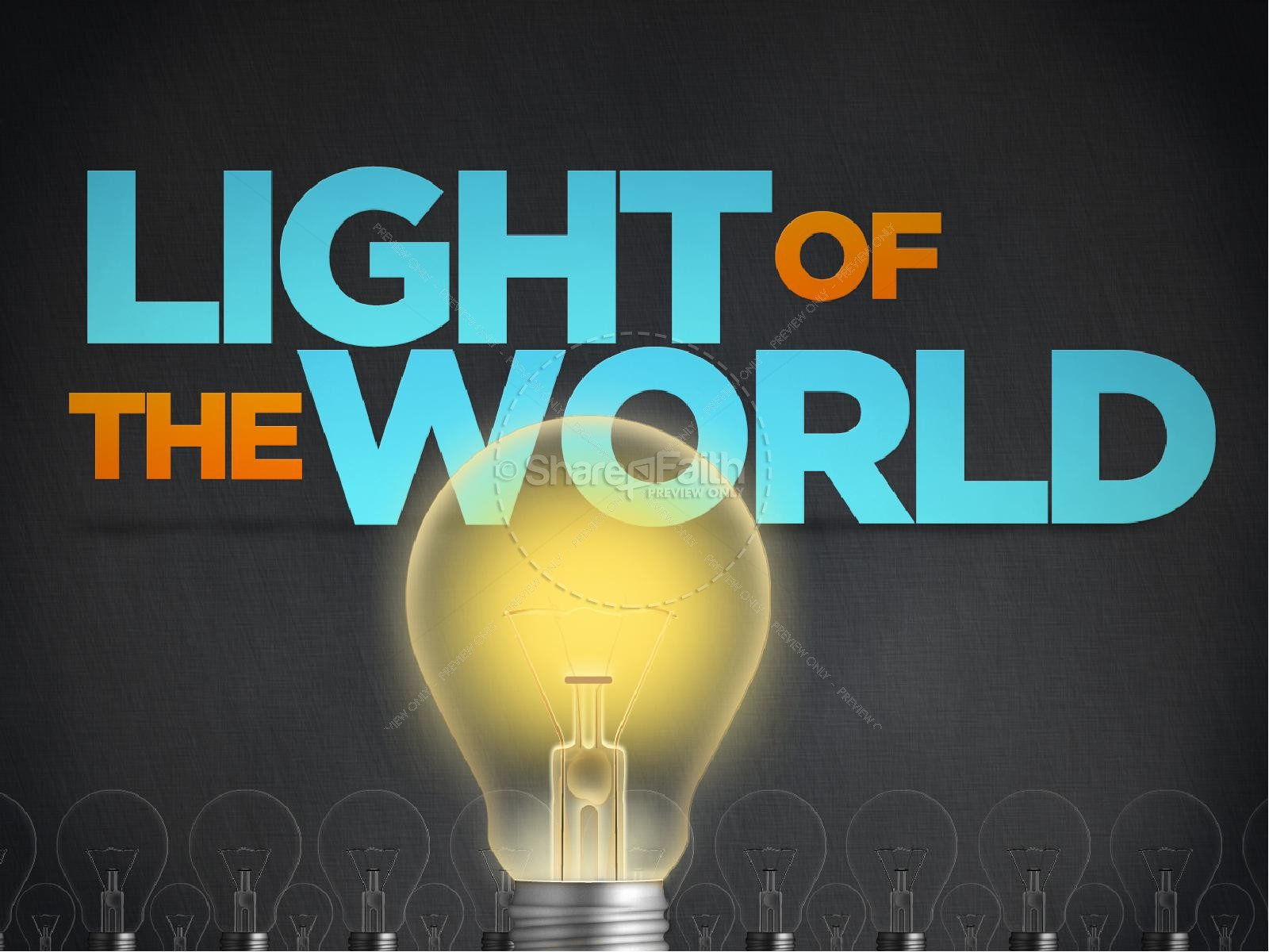 Light of the world powerpoint template easter sunday resurrection light of the world powerpoint template toneelgroepblik Image collections