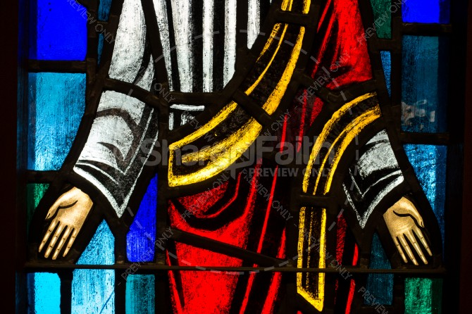 Jesus Stained Glass Religious Stock Image
